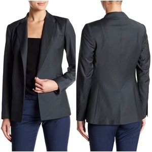 THEORY Sedeia Continuous Wool-Blend Open Blazer